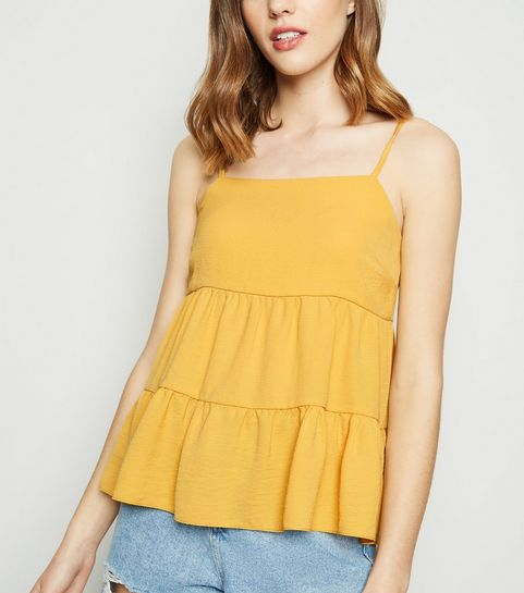 ee5382775e6 Yellow Tiered Cami · Yellow Tiered Cami ...
