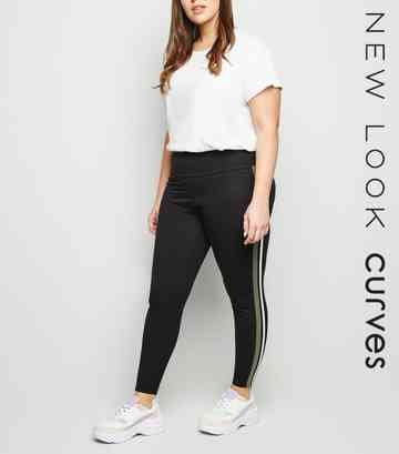 5f1776dfd08f3a Plus Size Leggings | Plus Size High Waisted Leggings | New Look