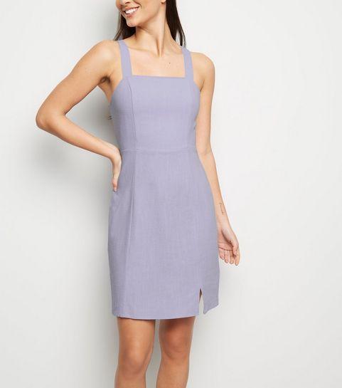 45bb869b923 ... Lilac Linen Look Pinafore Dress ...