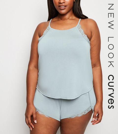 4d81a5bfc64 ... Curves Olive Lace Trim Pyjama Set ...