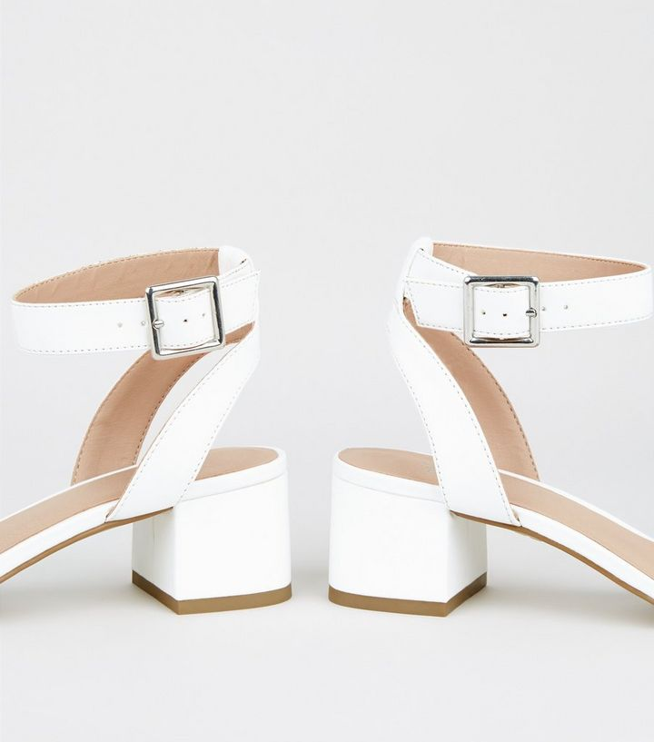 968d93473e ... Girls White Clear Strap Block Sandals. ×. ×. ×. Shop the look