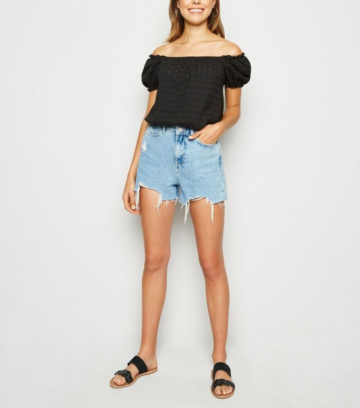 2c1782cd3cd652 ... Women s Tops · Black Broderie Bardot Top. ×. ×. ×. Shop the look