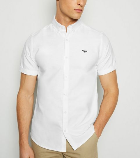 a523dd2a ... White Moth Embroidered Oxford Shirt ...