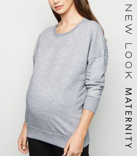 295bbcace5 Maternity Grey Long Sleeve Sweatshirt · Maternity Grey Long Sleeve  Sweatshirt ...