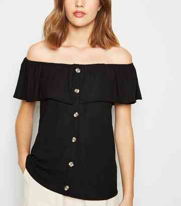 7b110b9b83e Women's Bardot Tops | Off the Shoulder Tops | New Look