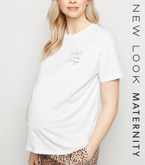 2950641b27c ... Maternity White Sweet Like Honey Slogan T-Shirt ...