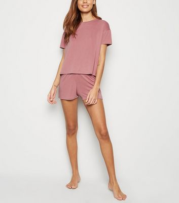 Mid Pink Soft Touch Jersey Pyjama Set by New Look
