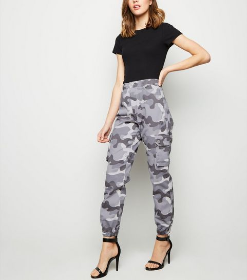 5587502ea0a ... Light Grey Camo Utility Trousers ...