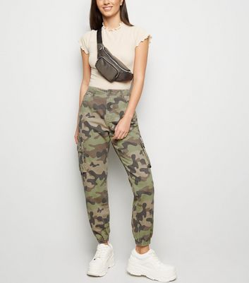 Green Camo Denim Utility Trousers