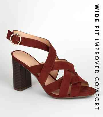 f7312bb2aa Heeled Sandals | Barely There & Strappy Heeled Sandals | New Look