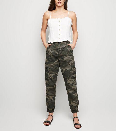b164f674694 ... Khaki Camo Cuffed Utility Trousers ...
