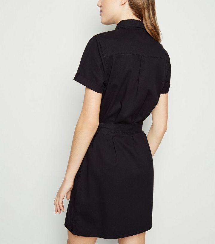 6964a73fb733 ... Black Short Sleeve Utility Shirt Dress. ×. ×. ×. Shop the look
