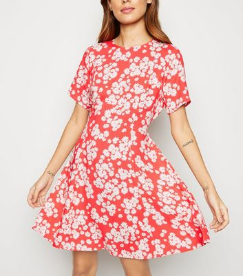 Pink Daisy Print Smock Dress