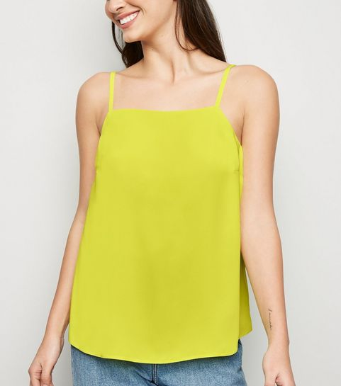 3b06ed01df ... Green Neon Square Neck Cami ...