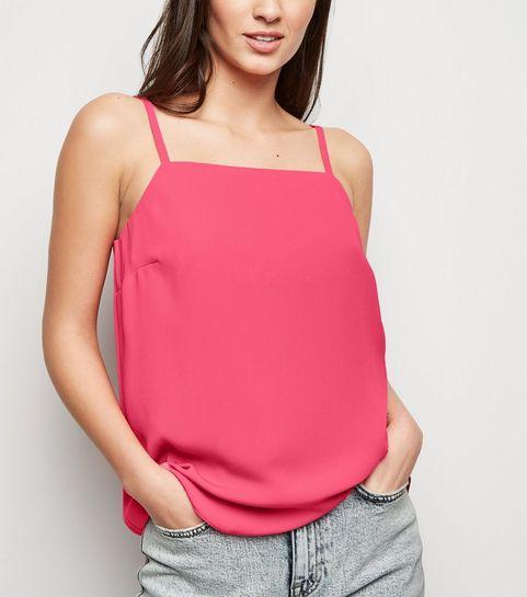 9ab11cc5bb018 ... Bright Pink Neon Square Neck Cami ...