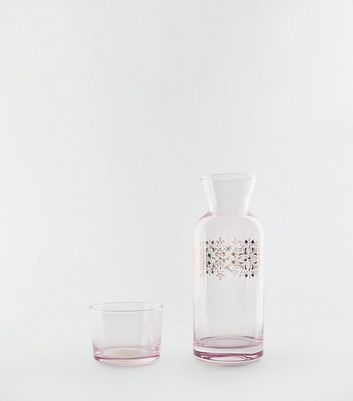 Pink Ombré Carafe and Glass Set