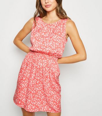 Pink Ditsy Floral Mini Dress