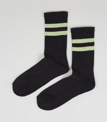 Black Neon Stripe Socks