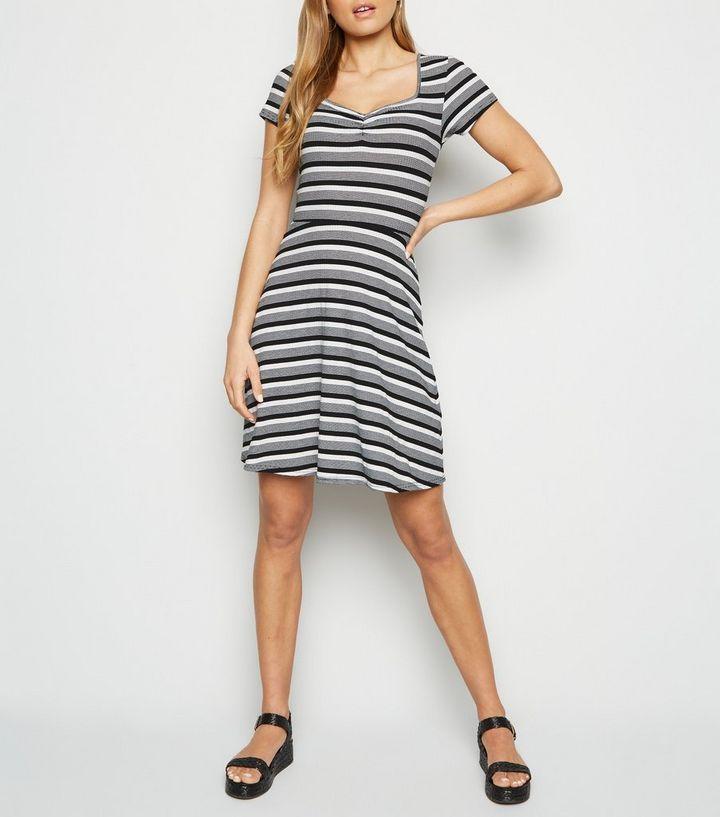 7564af57c36b Black Stripe Jersey Skater Dress