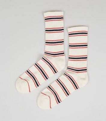 Off White Stripe Sports Socks
