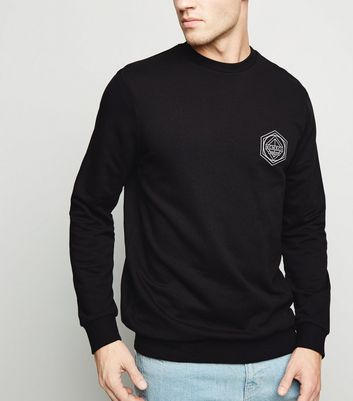 Black BRKLYN Slogan Sweatshirt