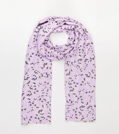 79be922c75e7 ... Lilac Ditsy Floral Print Scarf ...