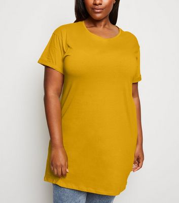 Curves Yellow Longline T-Shirt