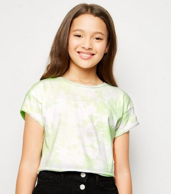 Girls Green Neon Tie Dye T-Shirt