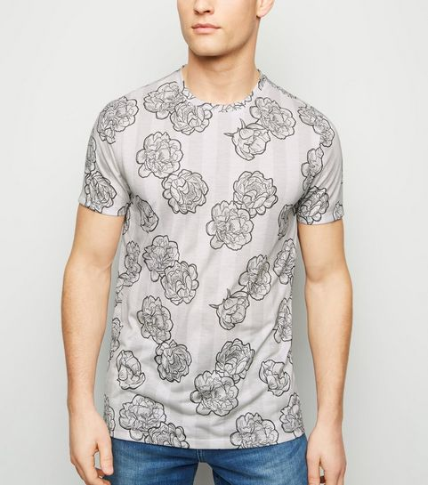 9be3e2a1901 ... Stone Stripe and Floral T-Shirt ...