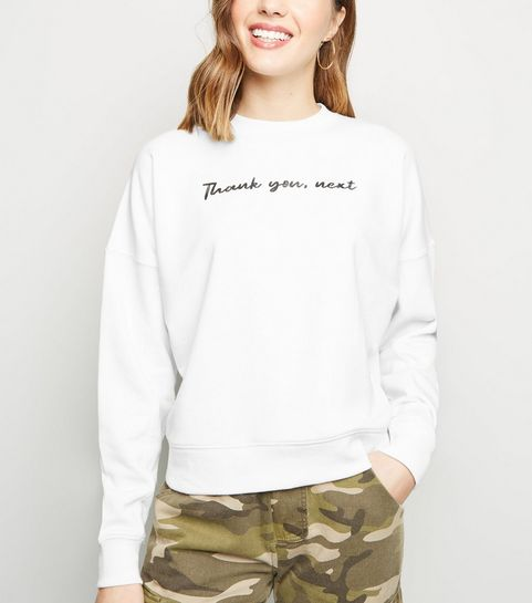 ... Off White Thank You Next Slogan Sweatshirt ... b1d34e20a91b