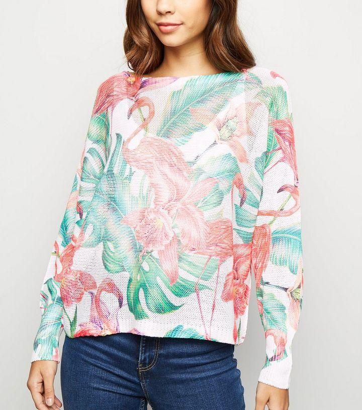 e38514672eff41 Cameo Rose Green Flamingo Fine Knit Jumper