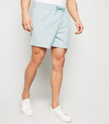 Mint Green Corduroy Pull On Shorts