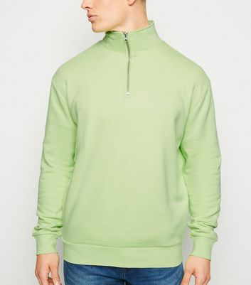 Light Green Funnel Neck Sweatshirt