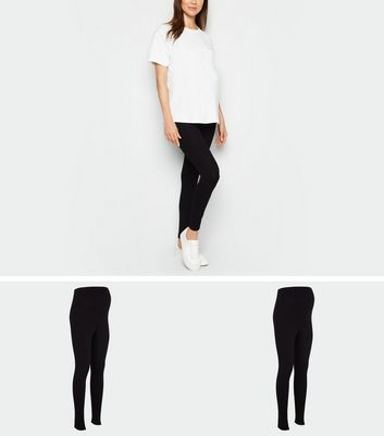 Maternity 2 Pack Black Leggings Add to Saved Items Remove from Saved Items