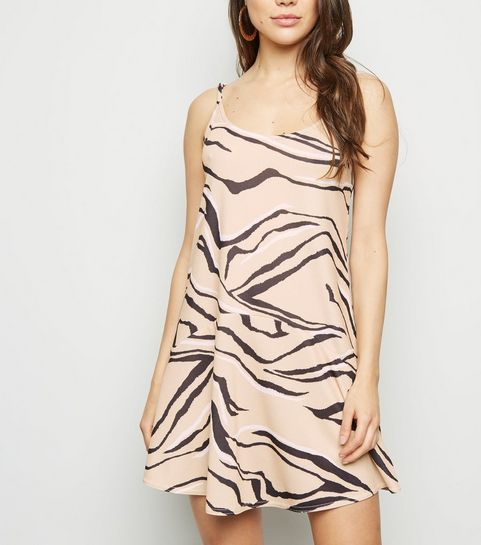 6c3d2c3b6d ... Cameo Rose Brown Zebra Print Slip Dress ...