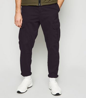 Black Slim Utility Trousers