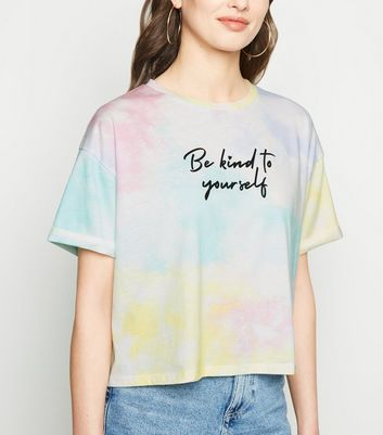 Multicoloured Tie Dye Boxy Cropped T-Shirt
