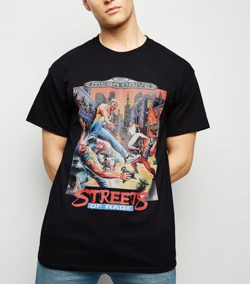 Black Sega Streets Of Rage Print T-Shirt