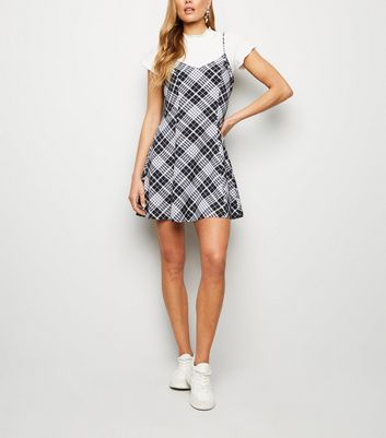 Cameo Rose Black Check Print Swing Dress