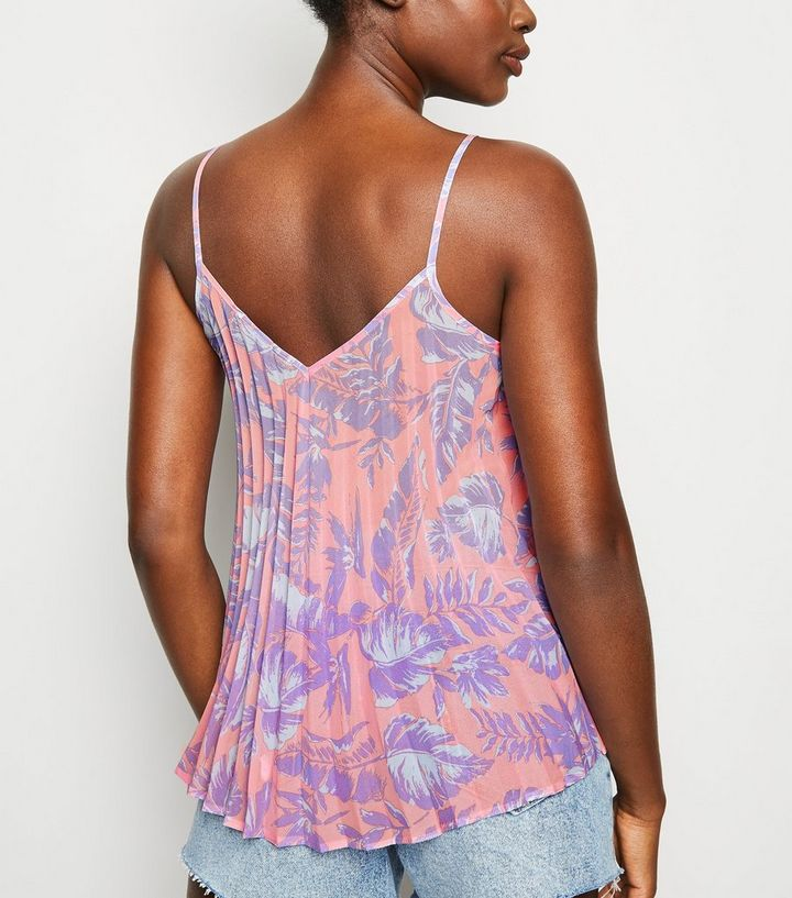 8f2165497eecc9 ... Pink Tropical Print Pleated Cami. ×. ×. ×. Shop the look