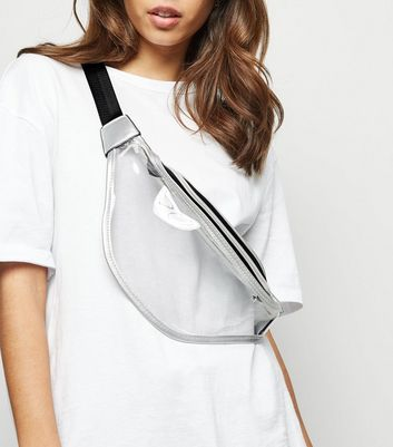 Silver Clear Bum Bag