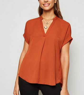 Rust Short Sleeve Overhead Shirt