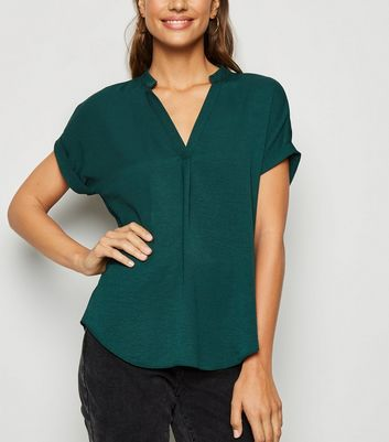Dark Green Short Sleeve Overhead Shirt