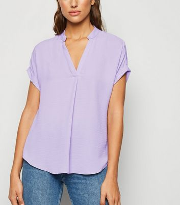 Lilac Short Sleeve Overhead Shirt