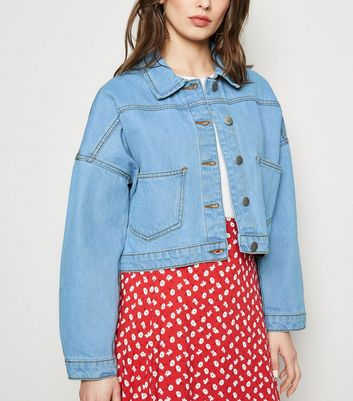 Cameo Rose Bright Blue Oversized Denim Jacket