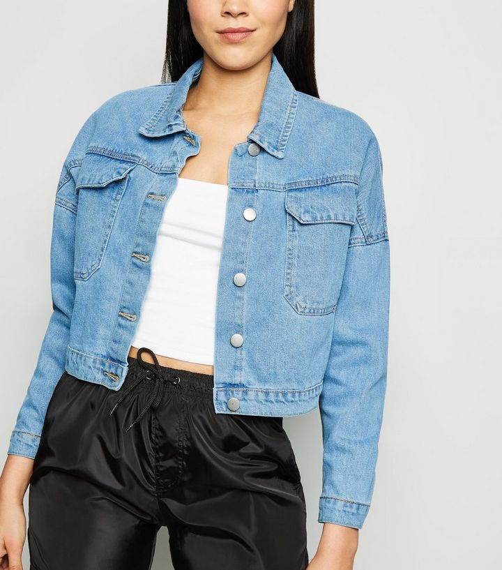 ace223f2f55c Cameo Rose Bright Blue Denim Jacket | New Look