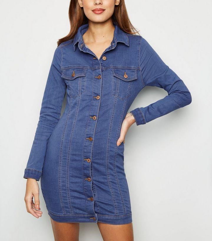 d357328f24 ... Parisian Bright Blue Stretch Denim Dress. ×. ×. ×. Shop the look