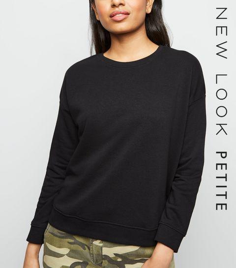 6edb9467b9cf Petite Black Long Sleeve Sweatshirt · Petite Black Long Sleeve Sweatshirt  ...