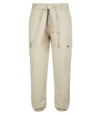 petite stone denim utility joggers new look