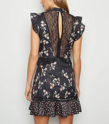 Parisian Black Floral Lace Shift Dress New Look